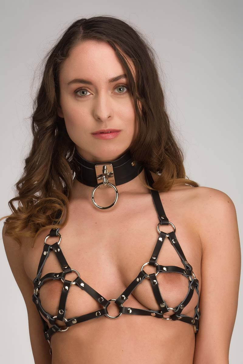 Leren bdsm collar Eternity