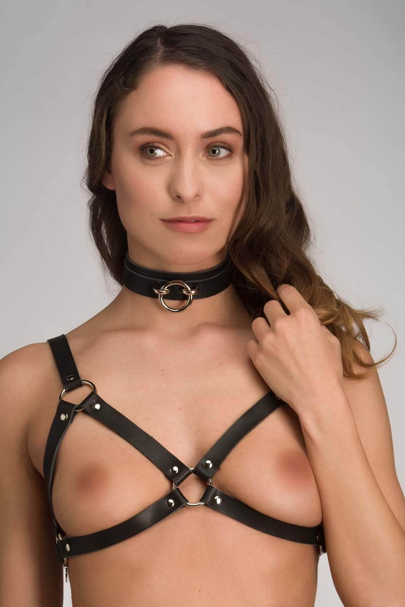 Leren bdsm collar Insolence