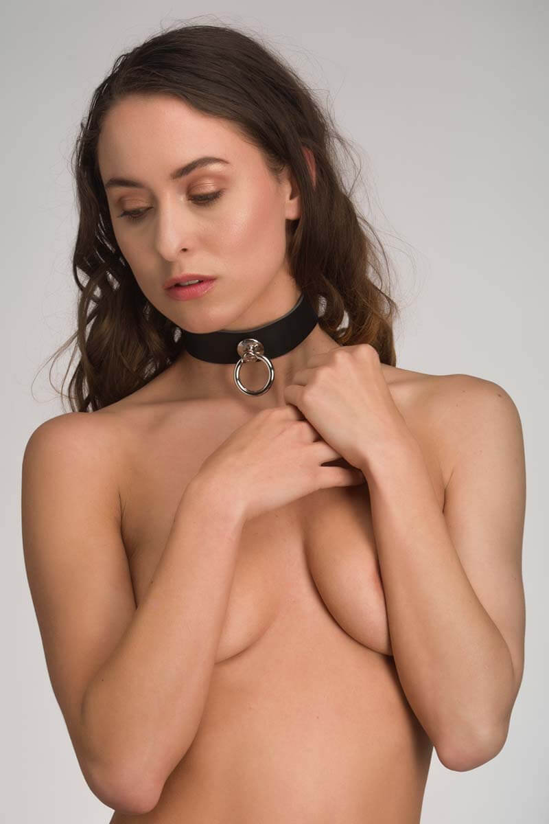 Leren bdsm collar submissive